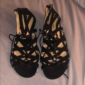 black Express sandals